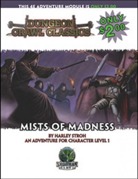 Mists Of Madness Book Cover And Interior Art For Dungeon Crawl Classics And Dungeon Crawl Classics Role Playing Game Dcc Dc Mists Dungeon Roleplaying Game