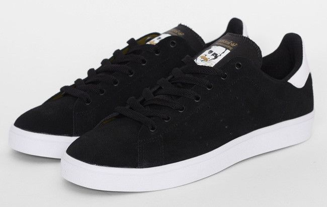 adidas stan smith vulc black