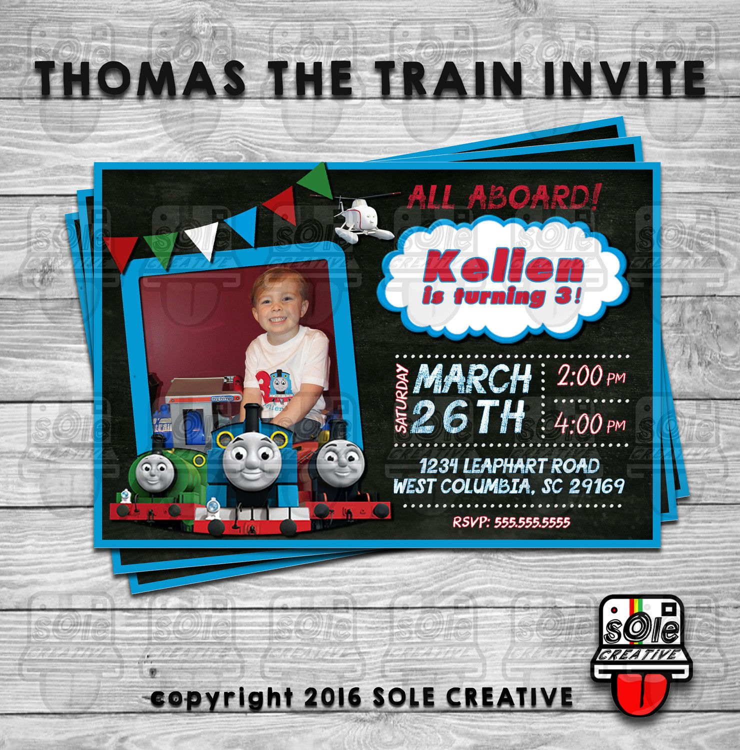 Thomas The Train Birthday Party Invitation Available With | Austin\'s ...