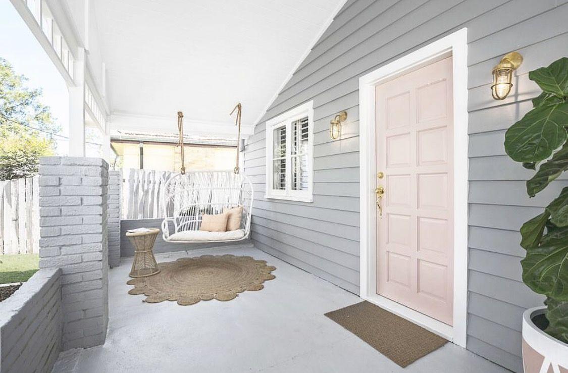 Swing seat, grey house, mat | East Austin Home | Pinterest | Swing ...