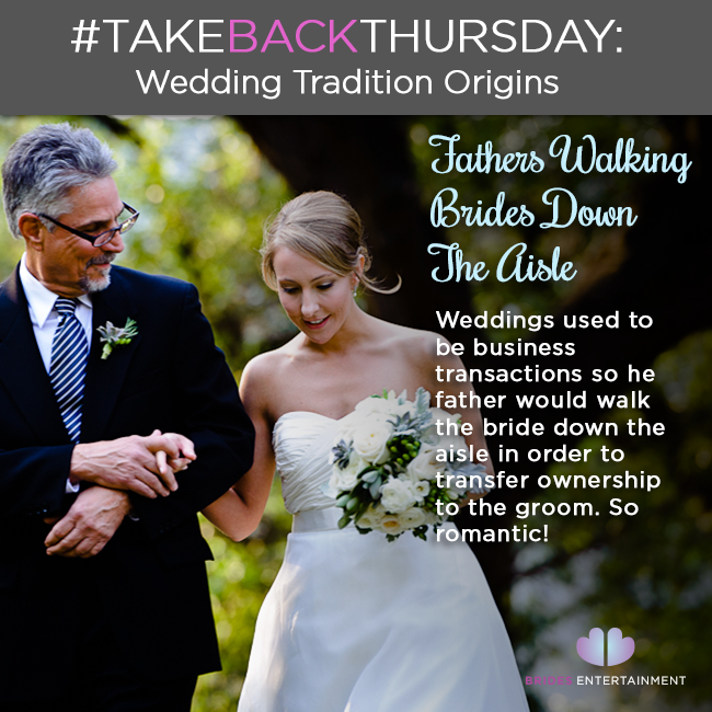 Brides Entertainment Wedding Tradition Origins Father Walking Daughter Down The Aisle
