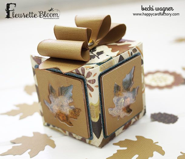 autumn shaker box  shaker boxes card factory happy cards