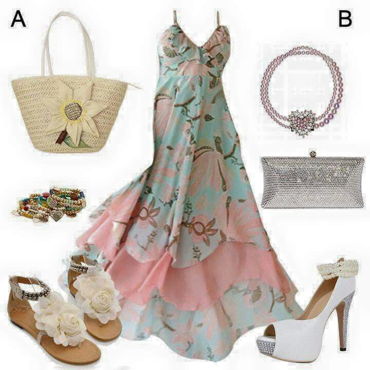 How you can get a day dress and a evening dress only changing shoes, accessories and handbag.... Great outfit idea!!!