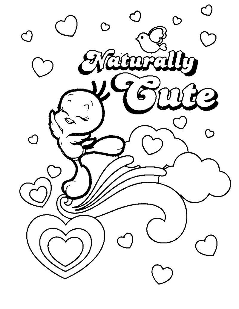 Colouring Pages Of Tweety In 2020 Bird Coloring Pages Printable Coloring Pages Space Coloring Pages