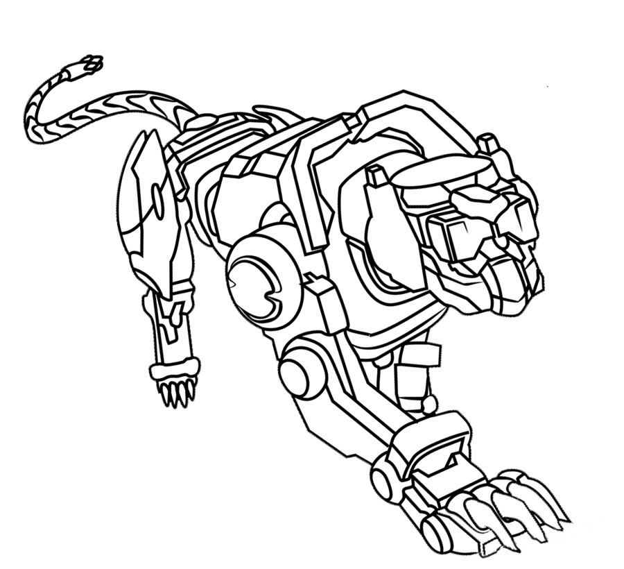 Voltron Coloring Pages Blue Lion Educative Printable