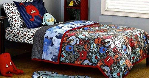Charming Monster Pals 2 Piece Twin Bedding Set Comforter And Pillow Sham From Truly  Scrumptious Heidi Klum