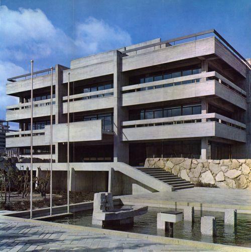Kagawa Prefectural Library, Takamatsu, Japan, 1963 (Yoshinobu Ashihara U0026  Associates)
