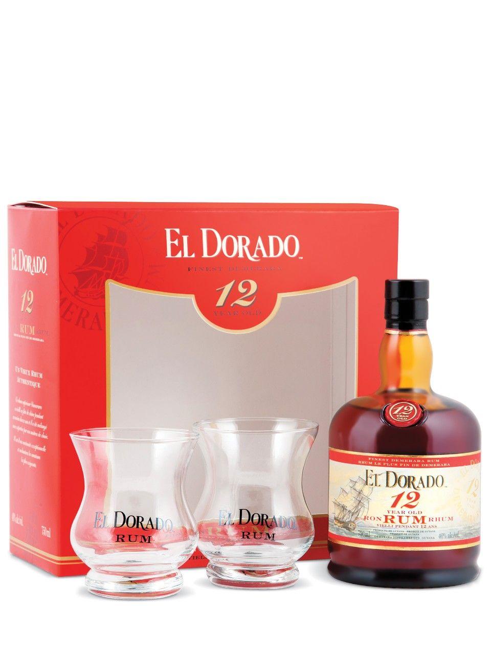 El Dorado 12 Year Old Gift Pack With 2 Glasses Wine Bottle Gift Packs Favorite Wine
