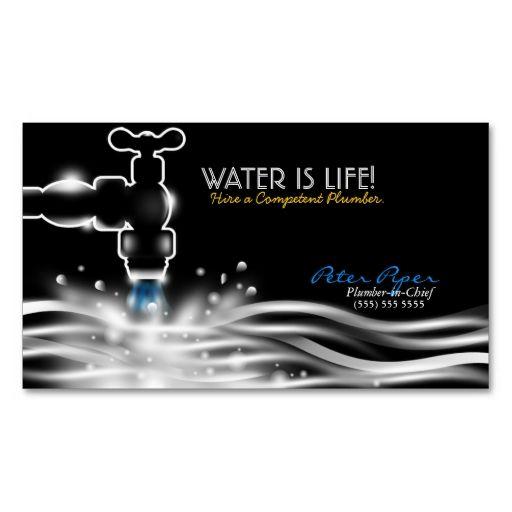 Plumber Plumbing Service Business Card Zazzle Com Plumbing Logo Plumbing Logo Design Plumbers Gift