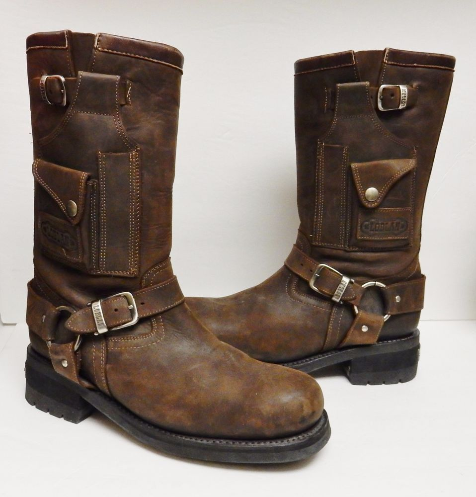 b1535999261 Details about Men's Harness Boots Motorcycle Biker 6