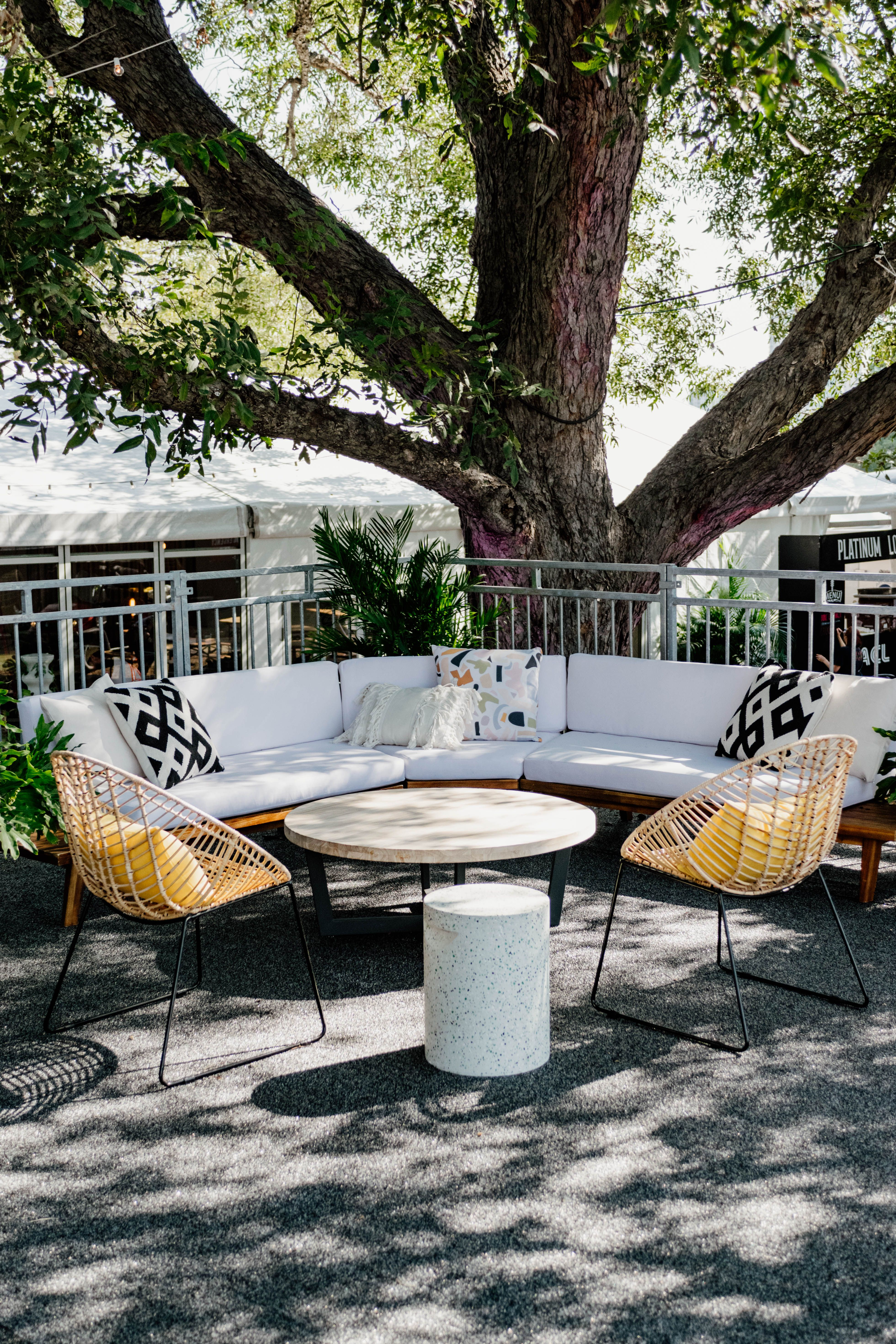 Outdoor Seating Lounge At Austin City Limits Festival 2019