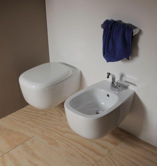 Bidet Bad wc bidet bonola weiß wandhängend flaminia bad wc bidet