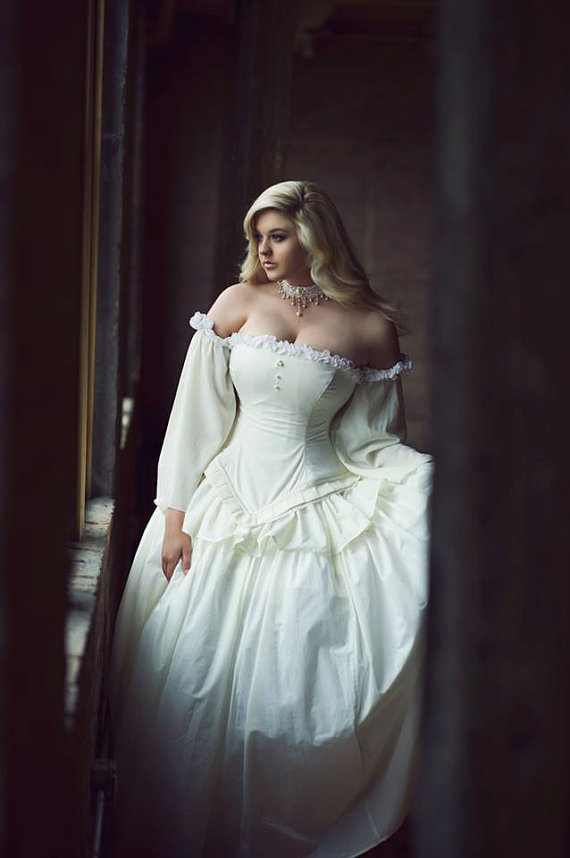 Cinderella Wedding Gown In Cotton Summer Bridal Fairytale Fantasy Ballgown Custom To Order