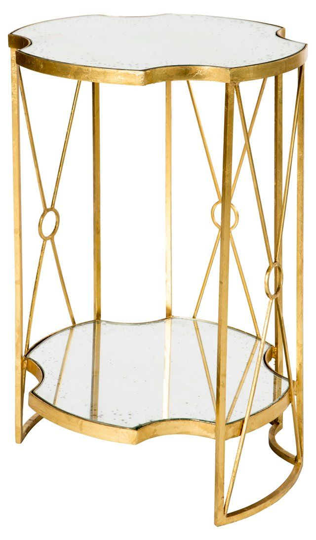 Gold Round Tiered Side Table Corner Table Designs Side Table Living Room Side Table