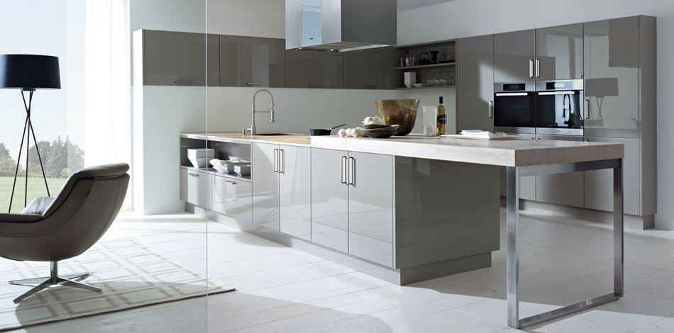 Trend Sch ller M belwerk KG glasline G Glas mat kristalwit Keuken Pinterest Kitchens and Contemporary