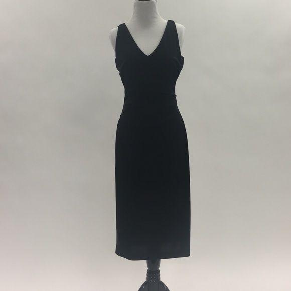 Nicole Miller Midi Black Cocktail Dress Black Cocktail Dress