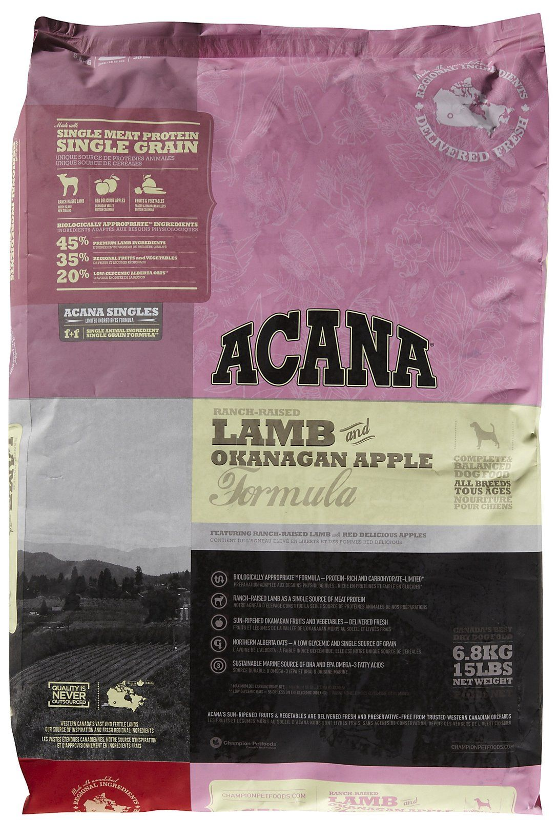 Acana Lamb Okanagan Apple Free Shipping