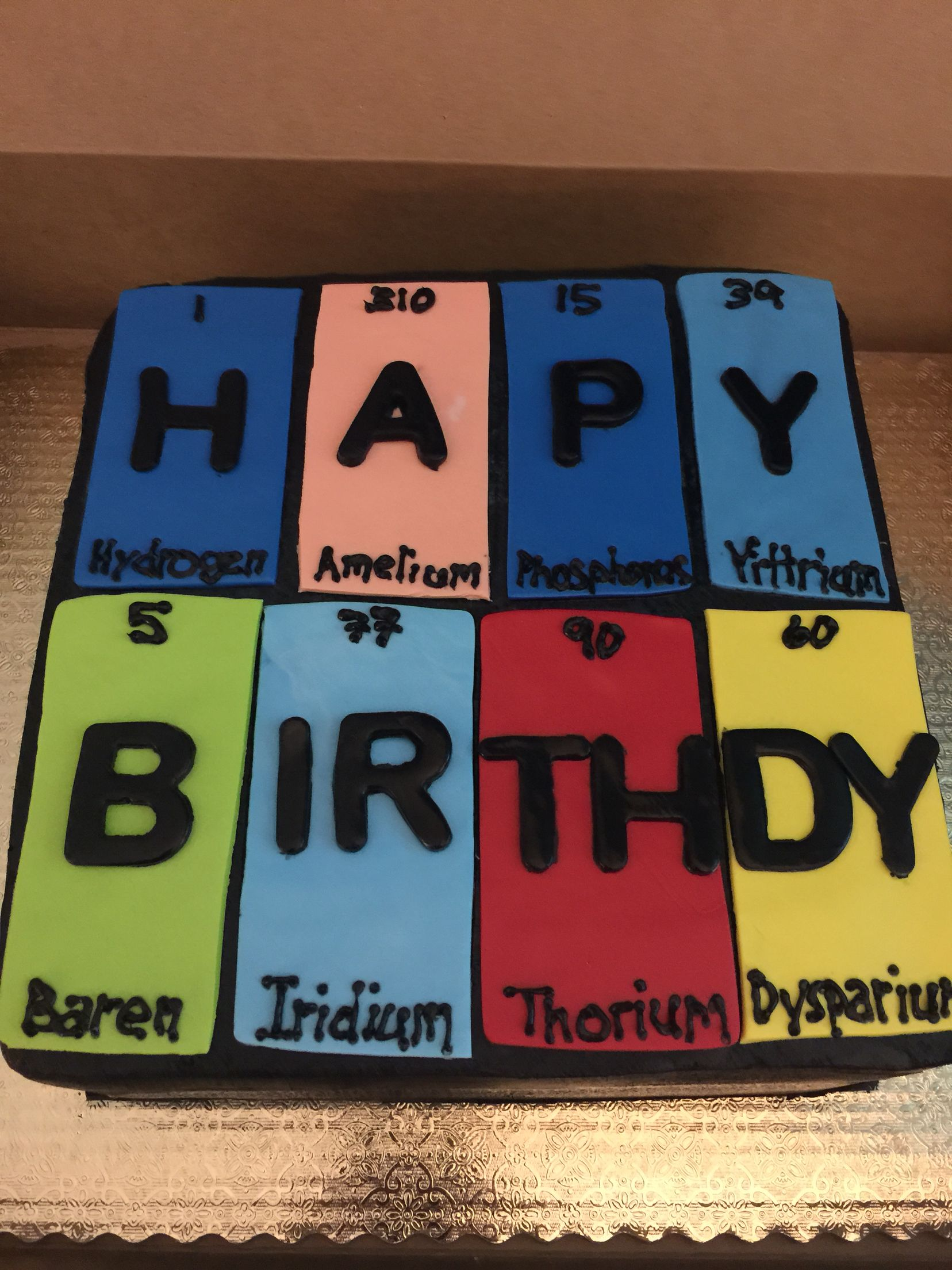 Periodic Table Birthday Cake With