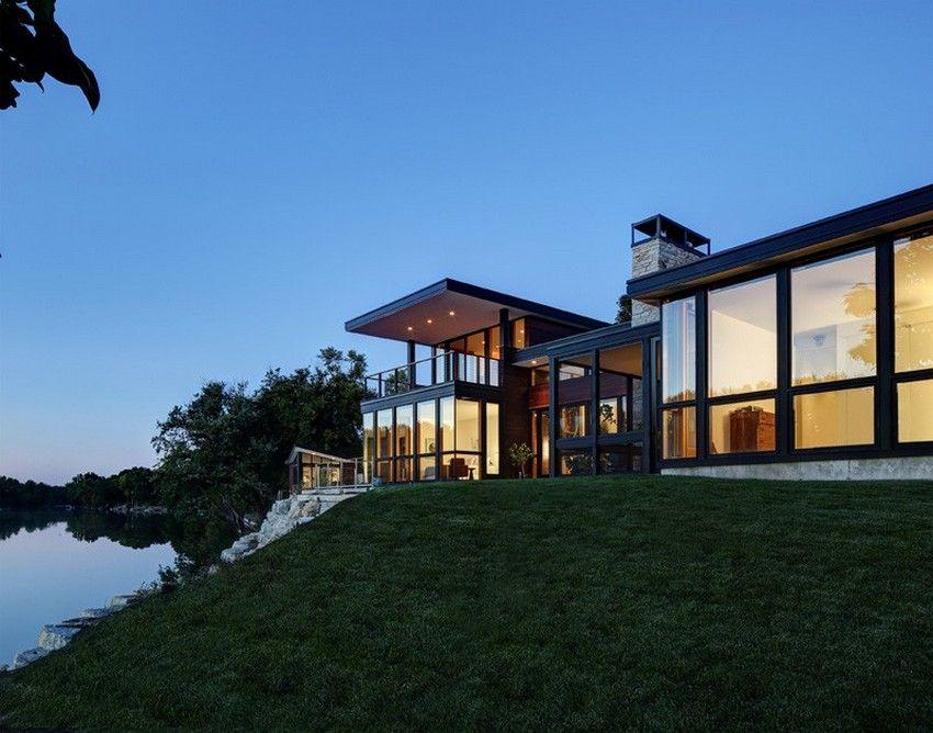 contempor rock river house - 850×668