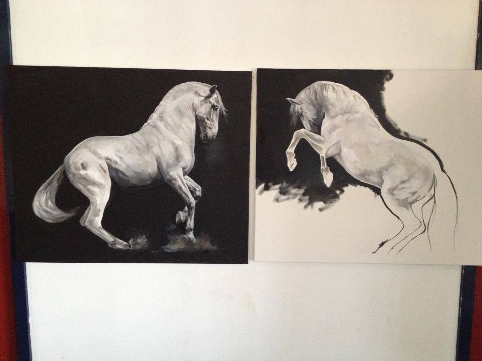 Pop-Up Equine Art Lesson with Tony O'Connor 'Power' Part 5/10 Got crackin' on the second piece. Would love to stay and play some more but it's sunny and I need a vitamin D fix. It's Ireland after all!!! (And maybe some gelato too)