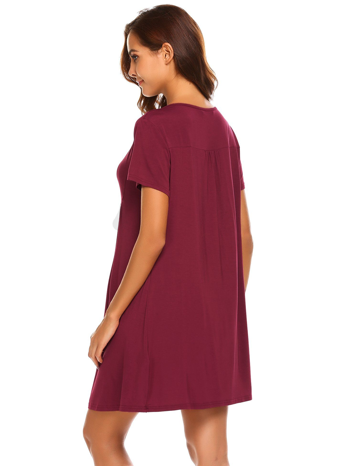 f1936ed9c1c Ekouaer Breastfeeding NightgownNursing Dress for Hospital Sleepwear Wine  Red Medium   Click on the image for