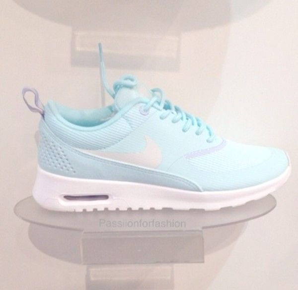 Ice blue Nike thea airmax fitness trainers; mine.