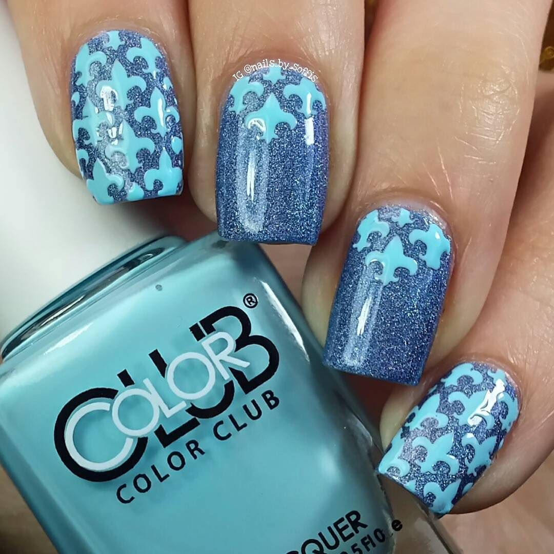 Lis Flower manicure What did I use? - Colour Alike 518 (Holo Bright ...