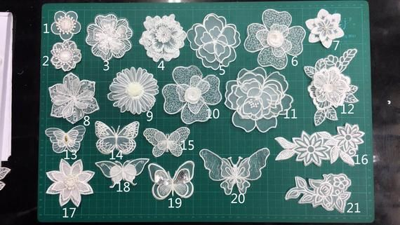 Flower Applique Color: Off White (as The Picture Showed