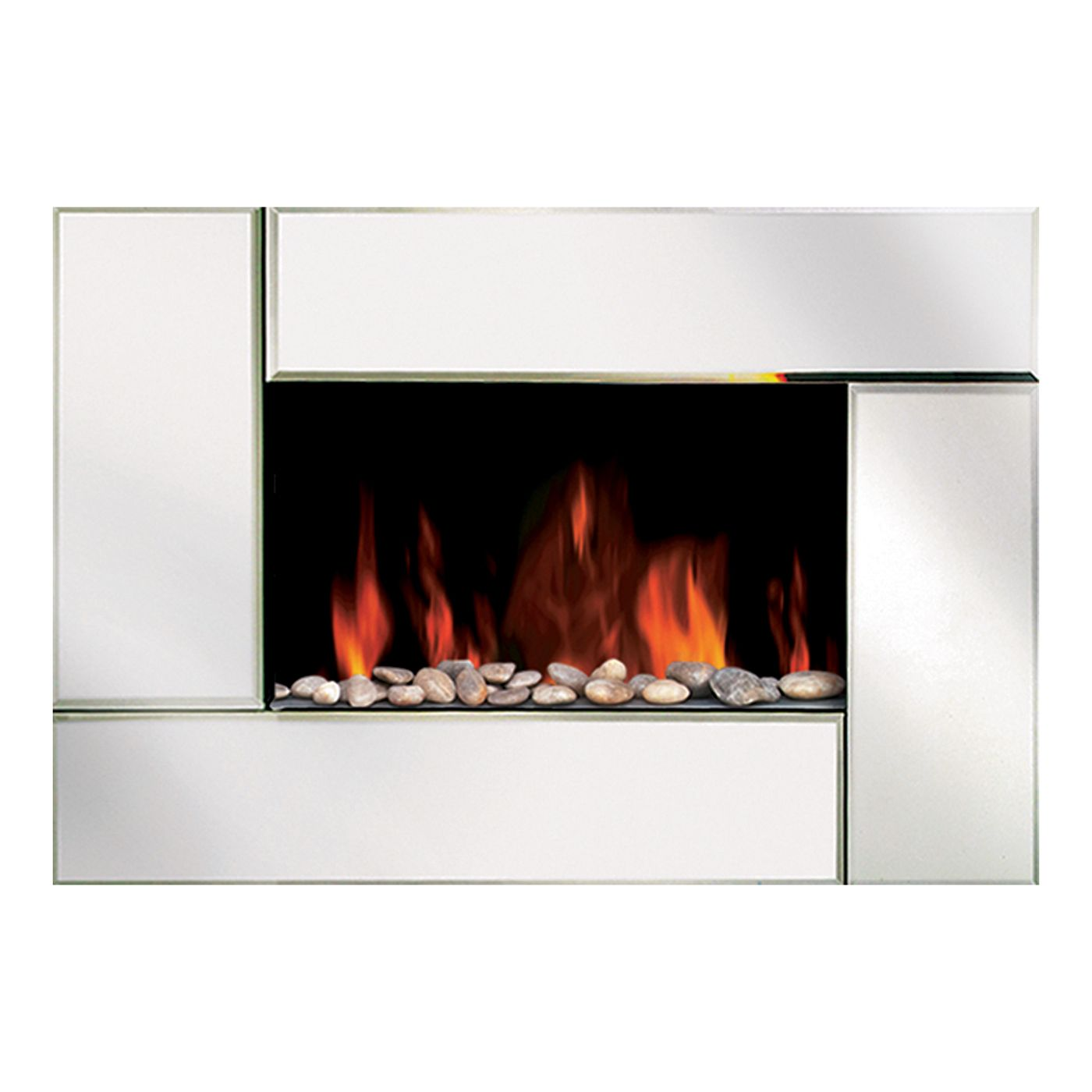 shop modern homes 67501 wall mount bevel edge mirror fireplace at