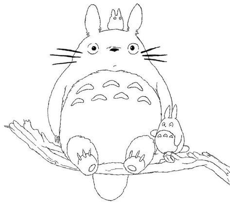 Totoro Coloring Book | Free Coloring Pages on Masivy World ...