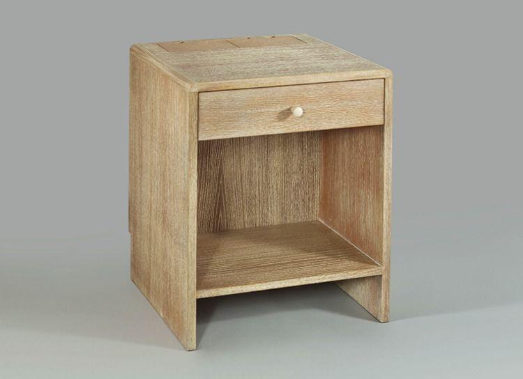 Art Deco Bedside Table Ceruse Oak