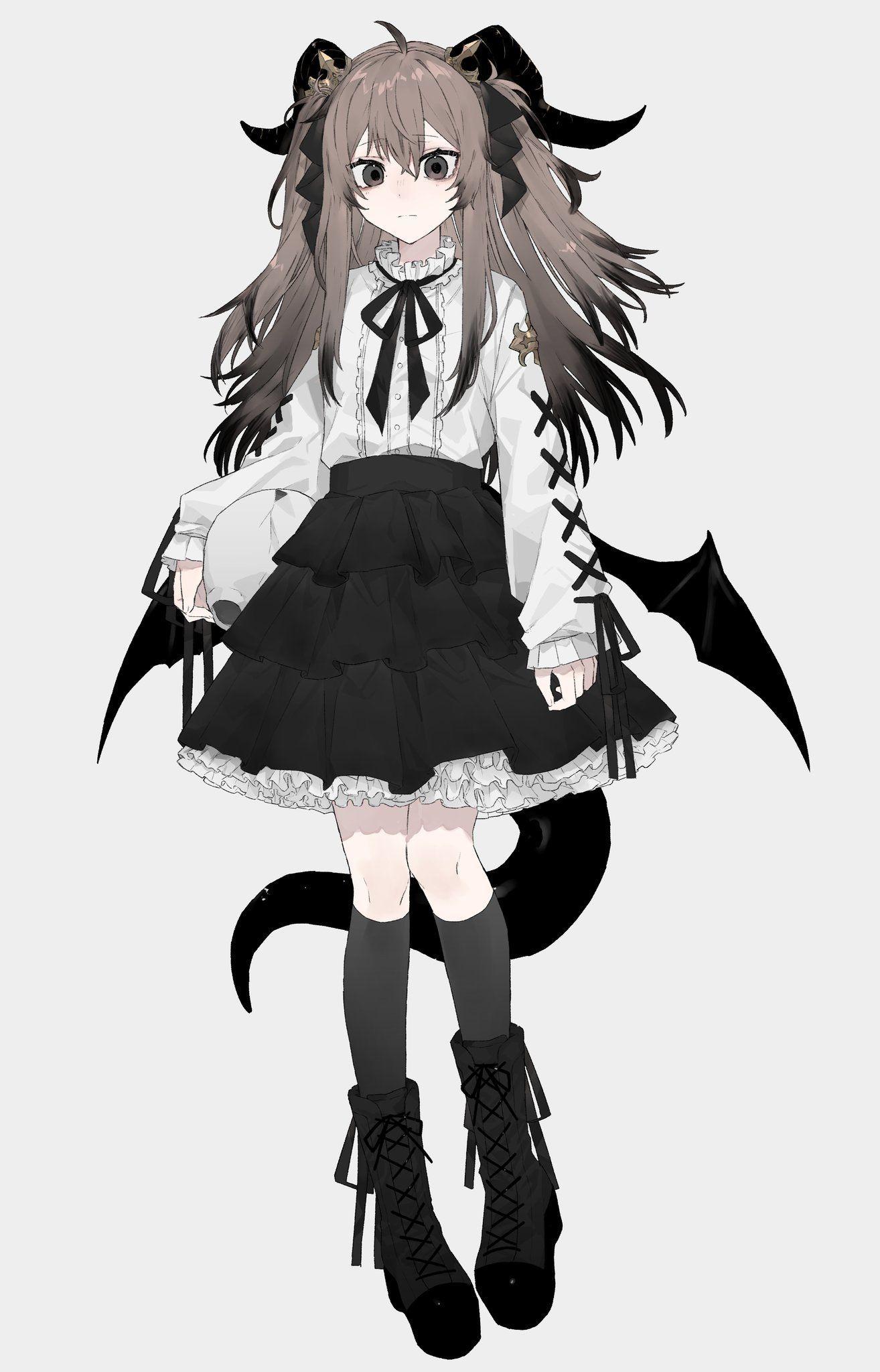 龍/通販開始 on in 2020 Anime, Anime art girl, Anime chibi
