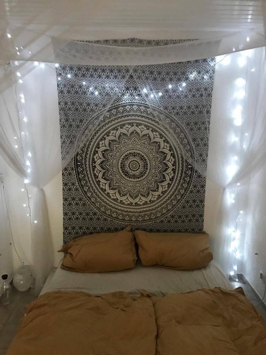 Wandtuch Mandala Mit Farbverlauf Karmandala Wandtuch Shop Lichterketten Zimmer Wandtuch Schoner Wohnen Schlafzimmer