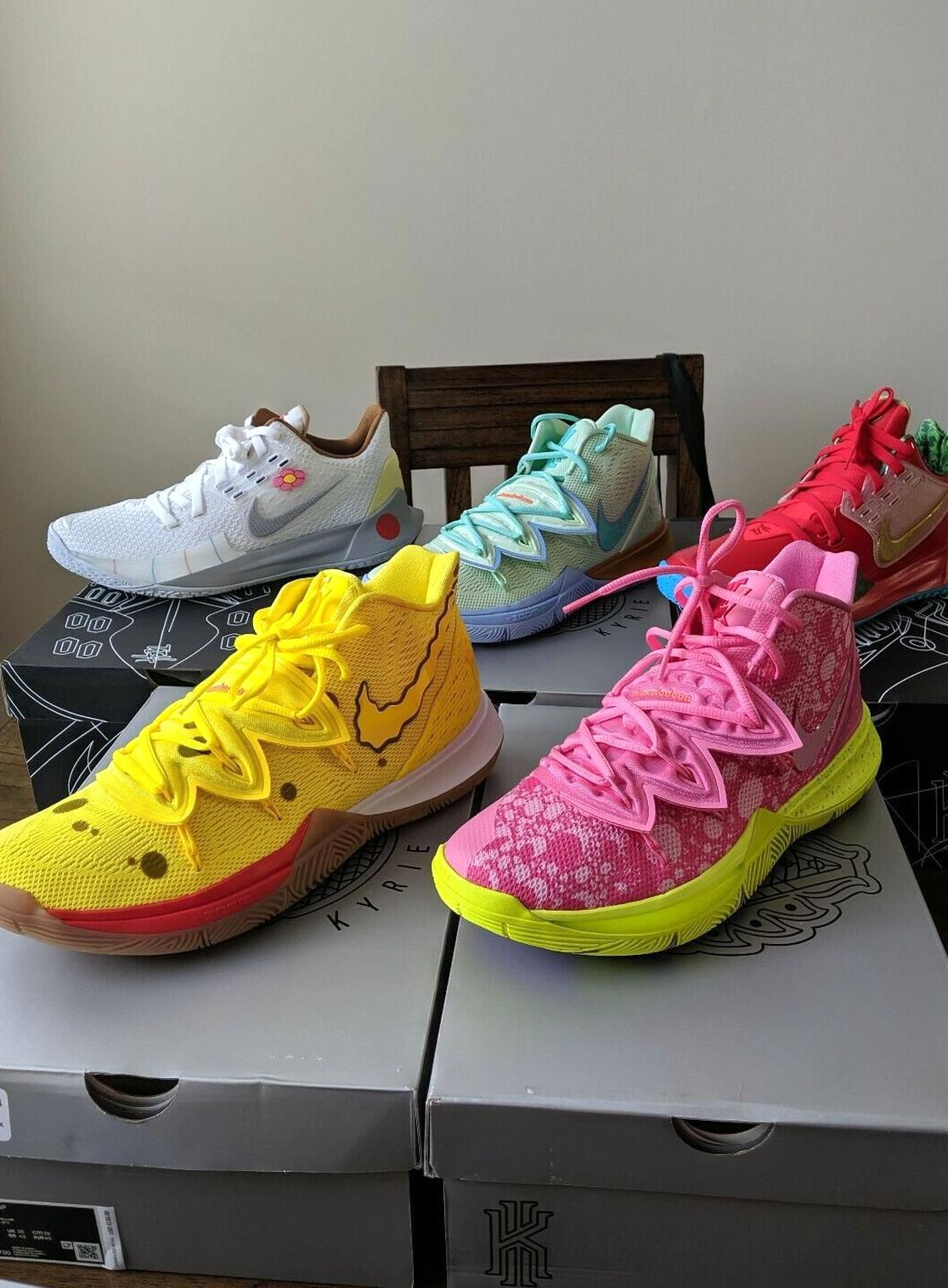 Nike Kyrie Irving SpongeBob Collection mens size 11 FULL SET ...