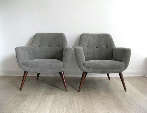 1950s Retro Pair Heals Lounge Chairs Armchairs Retro Lounge