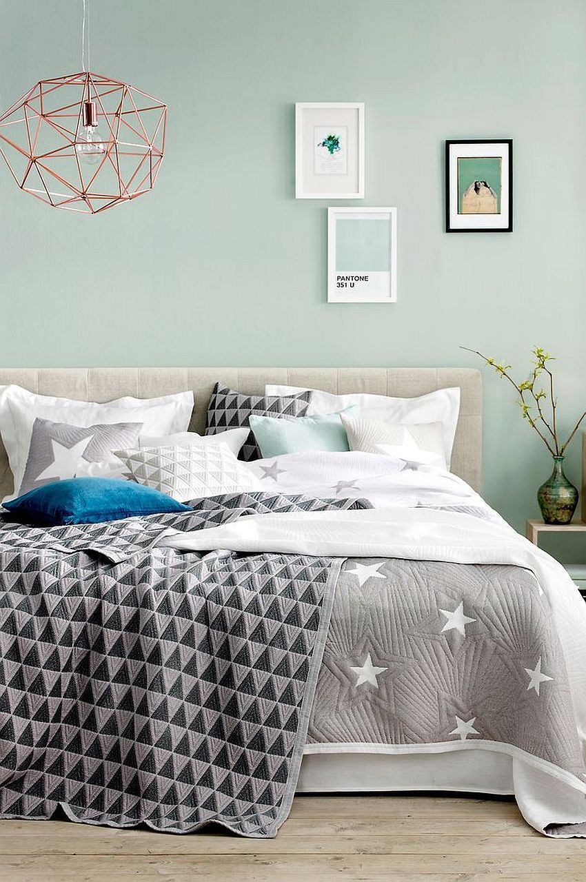 Gray And Blue Bedroom Ideas 15 Bright And Trendy Designs Green Bedroom Walls Mint Green Bedroom Mint Bedroom