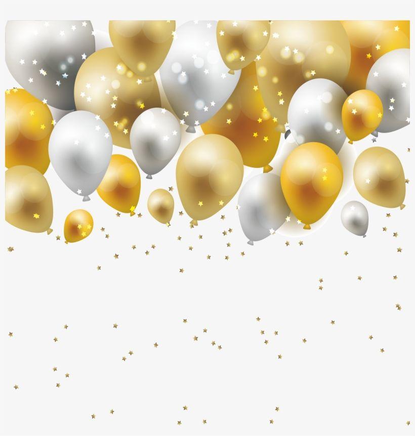 Pin De Sarath Lal Em Birthday Clipart Baloes Dourados Molduras De Prata Cartao De Aniversario