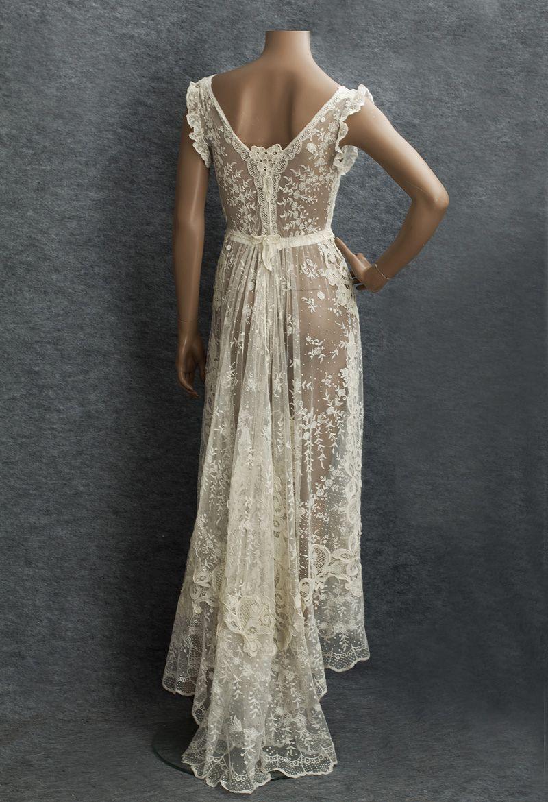 Circa mixed lace wedding dress made from delicate embroidered