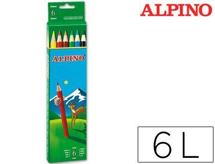 Lápices de 6 colores escolares Alpino ¡Los auténticos!