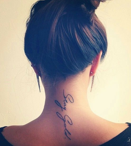 Sexy neck tattoos for girls