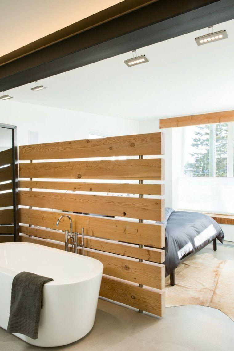 salle de bain dans chambre une tendance l gante et pratique s paration originaux et chambres. Black Bedroom Furniture Sets. Home Design Ideas