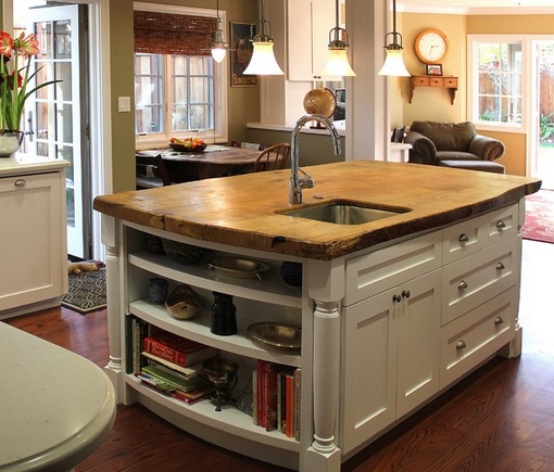 Chair Kitchen Countertop Remodel: ... Island - A Dramatic Rustic