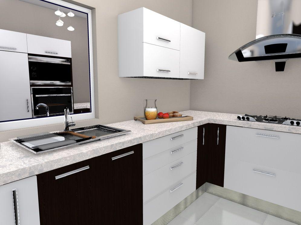 diseño cocina, espacio interior modelo para fabricar en melamina ...
