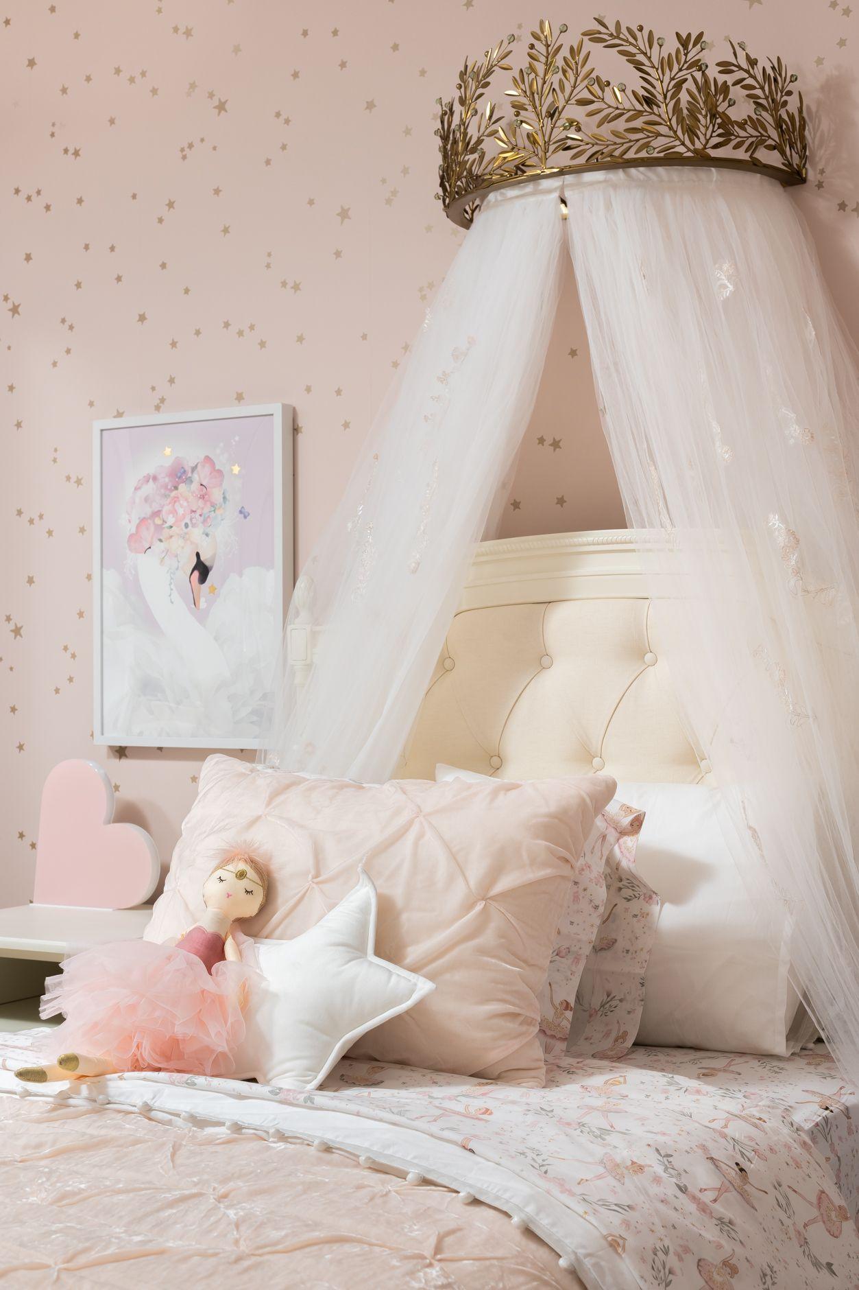Aria's princess room Girls bedroom wallpaper, Ballerina