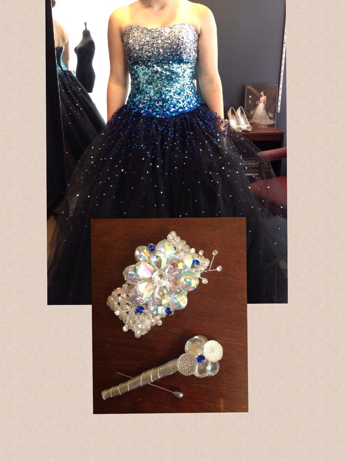 Matching corsage prom dress
