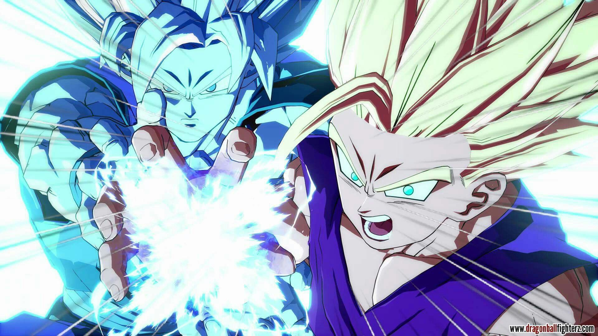 Father And Son Kamehameha From The New Game Dragon Ball Fighter Z Dragon Ball Wallpapers Anime Japanese Dragon