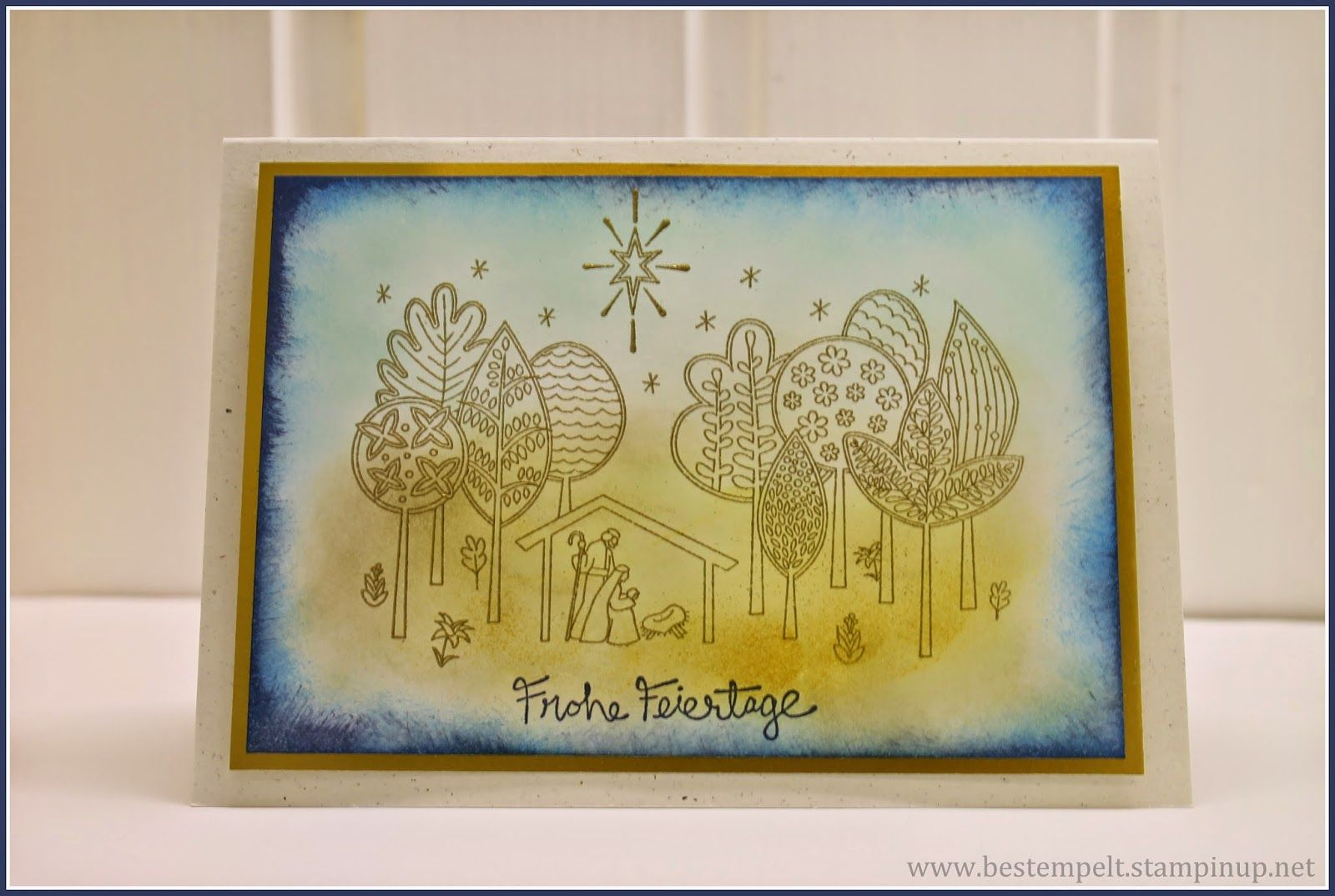 Stampin`Up! New Born King, Wunder der Weihnacht, Embossing