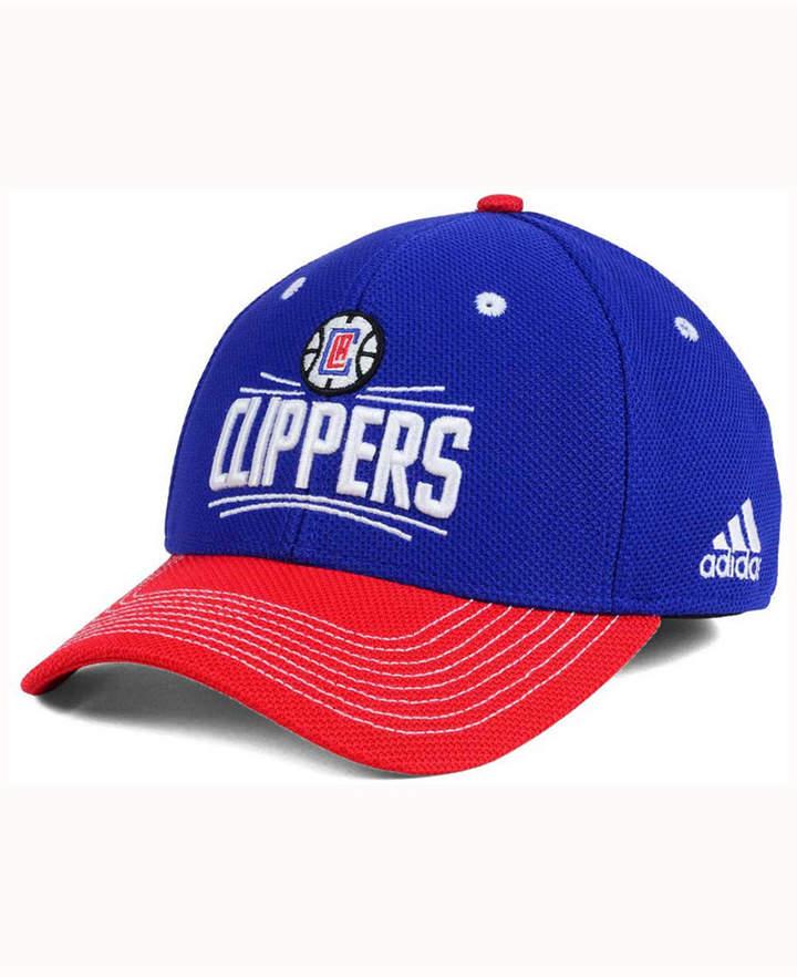 buy online 8008e 52113 adidas Los Angeles Clippers Duel Logo Flex Cap