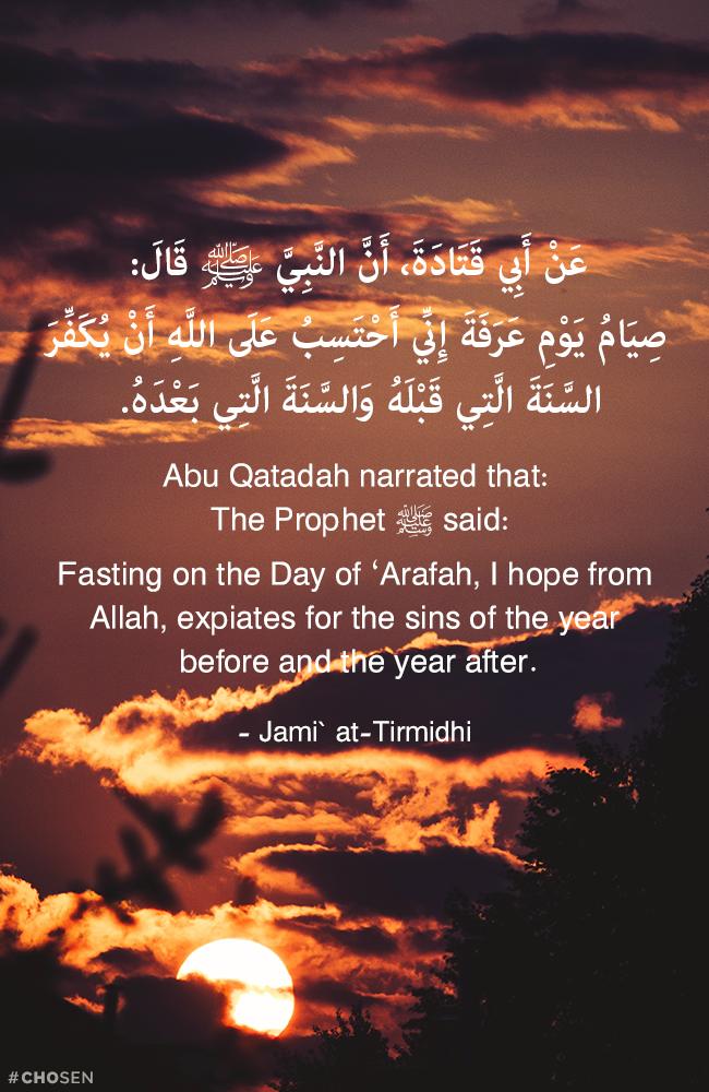 صيام يوم عرفة Hadith Ahadith Quran Verses