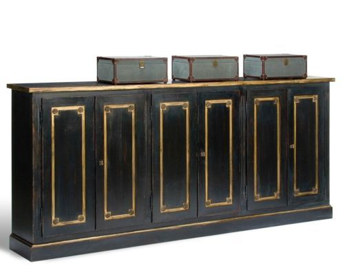 Sideboard buffet cabinet quot long feet ft black gold